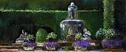 Fountain Prints - Germany Baden-Baden 15 Print by Yuriy  Shevchuk