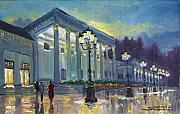 Old Painting Posters - Germany Baden-Baden Casino Poster by Yuriy  Shevchuk
