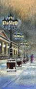 Snow Prints - Germany Baden-Baden Kurhaus Print by Yuriy  Shevchuk