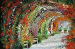 Landscape Oil Paintings - Germany Baden-Baden Rosengarten 01 by Yuriy  Shevchuk