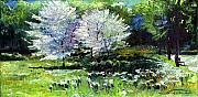Germany Paintings - Germany Baden-Baden Spring 2 by Yuriy  Shevchuk