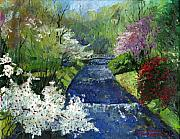 Oil Prints - Germany Baden-Baden Spring Print by Yuriy  Shevchuk