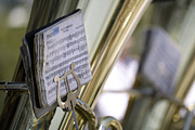 Music Stand Photos - Germany, Bavaria, Munich, Brass Band, Close-up by Tom Chance