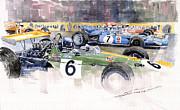 Germany Gp Nurburgring 1969 Print by Yuriy  Shevchuk