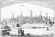 1616 Framed Prints - Germany: LÜbeck, 1616 Framed Print by Granger