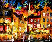 Canal Painting Originals - Germany by Leonid Afremov