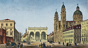 U-bahn Framed Prints - GERMANY: MUNICH, c1845 Framed Print by Granger