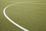 Turf Art - Germany, North Rhine Westphalia, Neuss, Painted Lines On Soccer Field by Westend61