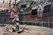 Spectator Metal Prints - Gerome: Gladiators, 1874 Metal Print by Granger
