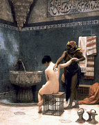 Servant Prints - Gerome: The Bath, 1880 Print by Granger