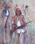 Haze Mixed Media Framed Prints - Geronimo Framed Print by Don Trout