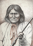 Native American Drawings - Geronimo by Lawrence Tripoli