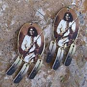 Landmarks Jewelry Originals - Geronimo Native American Apache Earrings by Paula Bidwell