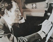 Writer Painting Originals - Gershwin by Kevin Hopkins