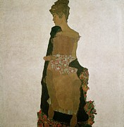 Angular Metal Prints - Gerti Schiele Metal Print by Egon Schiele
