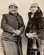 Famous Person Portrait Posters - Gertrude Stein And Alice B. Toklas Poster by Photo Researchers