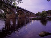 Saluda Photos - Gervais Street Bridge at Dusk by Jean Ehler