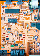 Circuit Component Framed Prints - Get Connected Framed Print by Semmick Photo