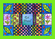 Corwin Paintings - Get Happy by Pamela  Corwin