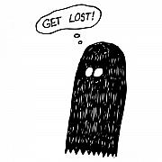 Scary Drawings Prints - Get Lost Print by Karl Addison