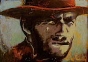 Clint Eastwood Art Paintings - Get off my lawn by Chris Riley