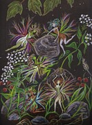 Gardening Drawings Originals - Get Outta My Way Coming Through by Dawn Fairies