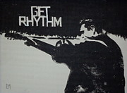 Black And White Painting Originals - Get Rhythm by Pete Maier