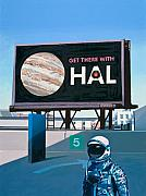 Space Art Framed Prints - Get There With HAL Framed Print by Scott Listfield