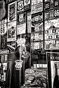 Window Signs Art - Get Your Kicks on Route 66 II by Diane Wood