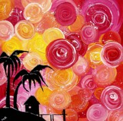 Swirls Paintings - Getaway by Una  Miller