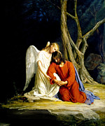 Angel Paintings - Gethsemane by Carl Bloch
