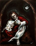 Jesus Art Paintings - Gethsemane by Carrie Joy Art