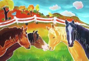 Ranch Art Posters - Getting Acquainted Poster by Harriet Peck Taylor