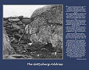 Gettysburg Framed Prints - Gettysburg Address Civil War Devils Den Framed Print by Randy Steele