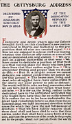 Printed Photo Prints - Gettysburg Address Print by International  Images