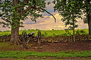 Artillery Digital Art Framed Prints - Gettysburg Cannon Framed Print by Madeline Ellis