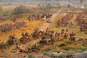 Army Of The Potomac Digital Art Framed Prints - Gettysburg Cyclorama Detail Two Framed Print by Randy Steele