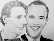 President Lincoln Drawings - Gettysburg Fulfilled by Christie American Horse