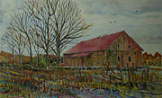 Cornfield Paintings - Gettysburg PA Area Barn by Donald McGibbon