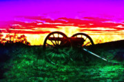 Gettysburg Digital Art Framed Prints - Gettysburg Twilight Framed Print by Bill Cannon