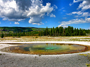 Landscape Framed Prints Framed Prints - Geyser Pool I Framed Print by Steven Ainsworth