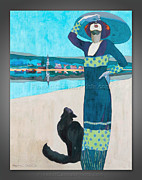 Fine Art Canvas Prints - Geza Farago - Slim Woman...