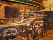 Industrial Mixed Media Prints - GG-1 electric locomotive Print by Chris Reed