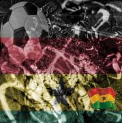 Football Game Mixed Media Prints - Ghana - The Game Print by Fania Simon
