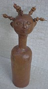 Girl Sculptures - Ghana Girl No 1 by Rhonda Bristol
