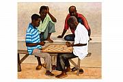 Elders Prints - Ghanaian Checkers Print by Carla Nickerson