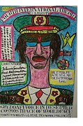 Politics Pastels - Gheddafi Voice In Deserted Cosmos Trace Of Worldface by Francesco Martin