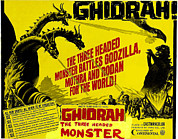 1960s Poster Art Posters - Ghidrah, The Three-headed Monster, Aka Poster by Everett
