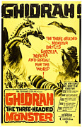 Horror Movies Framed Prints - Ghidrah, The Three-headed Monster Framed Print by Everett