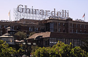 Ghirardelli Framed Prints - GHIRARDELLI SQUARE in SAN FRANCISCO Framed Print by Daniel Hagerman